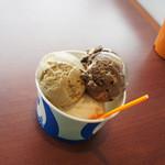 ブルーシールアイスクリーム - 紅茶のヤツと、チョコブラウニーのヤツと、塩ちんすこう