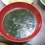 トミホルモン - ビビンバやきめし(スープ)