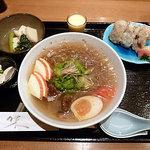 雪月花 神田川 - 和風冷麺セット 1000円