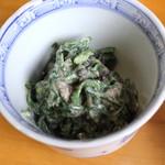 仲佐 - 蕎麦三昧 (菊菜と香茸)