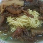 味見亭 - 麺は細めのストレート麺。