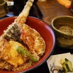 手打ちそば処 淡淡 - アナゴ天丼+蕎麦1230円