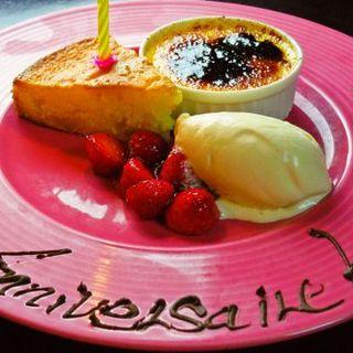 <お誕生日&記念日に・・・>特製デザートプレートプレゼント♪