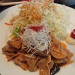 22305992 - 黒豚ピリ辛味噌炒め