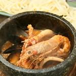一味一笑 - ◆シェフ特製!石焼きブイヤベースのつけ麺生パスタ♪忘・新年会コースにも入ってます♪