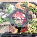 サルメリア ラボ - 3000円分のお惣菜パックです。                             こちらも透明のフタにお料理名を明記してあります。