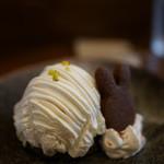 うさぎとぼく - ごまと豆乳のモンブラン