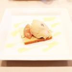Bistrot Enry. - 本日のデザート 栗のアイスと洋梨のコンポート・ピスタチオのムース  '13 10月下旬