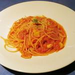 22316938 - パスタランチ<\1,100>(栗&豚挽き肉のトマトソース、2013年9月)