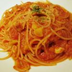 22316939 - パスタランチ(栗&豚挽き肉のトマトソースのアップ、2013年9月)