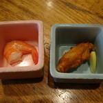 魚可祝 - お通し2品