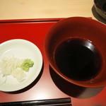 神戸牛ステーキ海鮮料理 わ田る - そばつゆと薬味