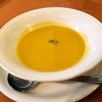 22320459 - かぼちゃのスープ海老風味