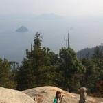 沖野水産 - 弥山山頂からの眺め