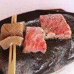 美菜ガルテンふるかわ - ランチコース(石焼のミニステーキ)