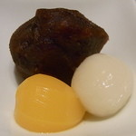 日本料理 つる家  - ②漉し餡と栗甘露煮と白玉♪
