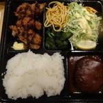 レストラン ポパイ - カキフライ+ハンバーグ