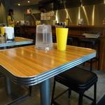 カリーアップ - テーブル席
