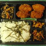 魚錦 - ...「カキフライ弁当(450円)」、カキフライ3個+ホタテフライ1個!季節限定!