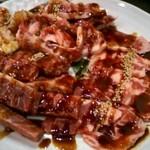 焼肉だるま - 焼肉5種盛り合わせ (カルビ・ロース・サガリ・ホルモン)