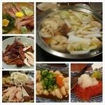 たぬきばやし - 料理写真:職場の第6回京阪会。今回はマイナーな光善寺駅前の居酒屋で鍋と塩寿司。満足(´ー`)