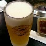焼肉だるま - 生ビール