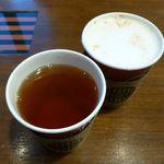 タリーズコーヒー - マンダリンオレンジ&ラズベリーティー、チャイミルクティー(2013/11/06撮影)