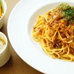 ヴォーノミイナ加藤 - もっちもちの生麺を使ったパスタランチ750円〜