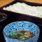 ふるせき庵 - 料理写真:鴨つけ汁更科せいろ蕎麦