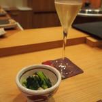 日出鮨 - シャンパーニュ パトリスマルクー(1,200円)