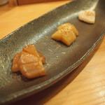 日出鮨 - おつまみ3種盛り