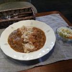 22336624 - キーマカレー&ひよこ豆のカレー