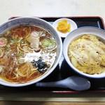清水屋 - ラーメン+かつ丼セット