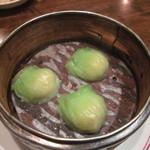菊華飲茶館 - ヒスイ餃子 中はエビ