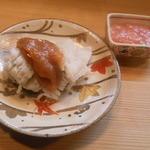 竹はる - ハモ梅肉とサメカレイの卵