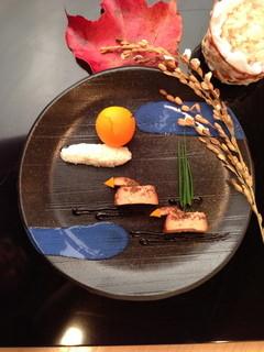 蓬左茶寮 - フォワグラの八丁味噌漬け
