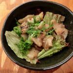 浜焼太郎 - アンコウのホルモン焼き。胃袋だそう。初めて食べました~♪