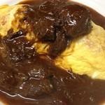 カフェビストロ珈琲市場 - 料理写真:馬のほほ肉の熊本オムライス
