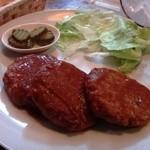 シルバーロック - 料理写真:ミニハンバーグ(280円)は、全然ミニでないし・・・3個も!