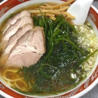 マルナカ - こんぶチャーシュー麺!  スープに昆布が合う合う!!
