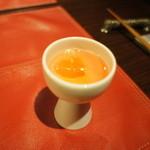 山田屋旅館 - 食前酒、浮かぶ氷のカタチがハート。