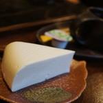岡本とうふ店  - 豆腐ケーキとコーヒーセット600円。