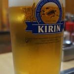 お好み焼き 110 - 生ビール (\650)