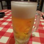 ベッラベーラ - 生ビール:279円 (17:00-19:00)