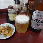 麺厨房 - 瓶ビール:550円