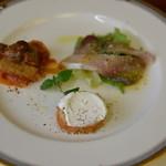 ホワイトハウス - 料理写真:前菜3品盛り合わせ