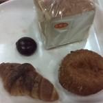 ブラウバッハ - ガーリック塩パン、卵カレーパン、かりんとうパン?小町食パンです