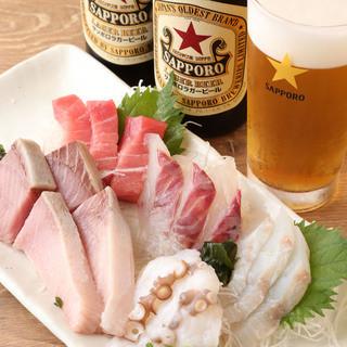 店主が厳選した鮮度抜群の海鮮料理をお楽しみください!