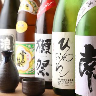 季節に応じて店主自ら地酒を選定しております!
