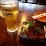 グリル若 - 生ビール & 肉のたたき